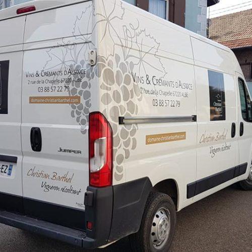 Marquage véhicule pour le domaine Christian Barthel