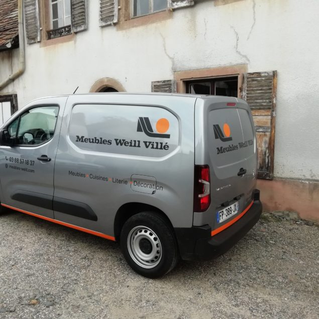 Marquage véhicule pour Meubles Weill